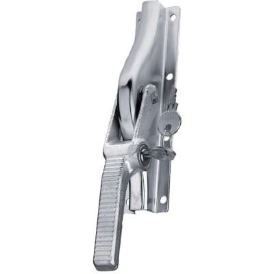Rozvorová závora na bránu, nalož., uzamyk.,10x10mm, zdvih 23mm, strieb.sivá oceľ