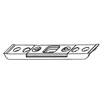 Čapový protiplech, 4 mm, drážka pre dverovú závoru