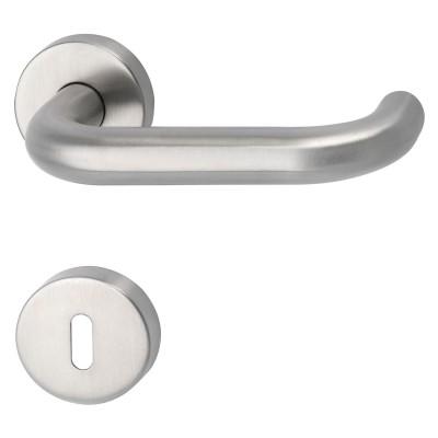 MARCHESI súprava kľučiek HARMONIE s rozetou BB, hrúbka dverí 38-45, ušľachtilá oceľ matná