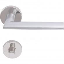 Súprava kľučiek ALMERIA na rozete, WC, hrúbka dverí 35-45, chróm matný/lesklý