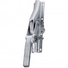 Rozvorová závora na bránu, nalož., uzamyk.,16x16mm, zdvih 30mm, strieb.sivá oceľ