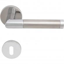 Súprava kľučiek RIO na rozete, BB, hr.dverí 35-45, lesklý chróm-ušľ.oceľ