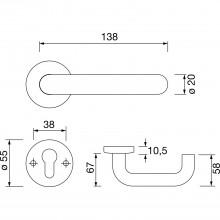 Súpr.kľučka/kľučka 111.20 R - na rozete, BB, 38 - 48, svetlo sivá