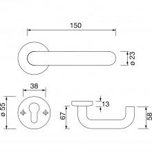 Súpr.kľučka/kľučka 111.23 R - na rozete, BB, 38 - 48, hlboko čierna