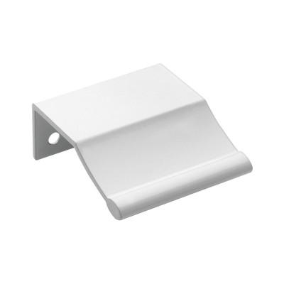 Zásuvková úchytka rozstup dier 32 mm, šírka 45 mm, biely hliník