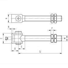 Bránový záves na privarenie, dĺžka 160 mm, pozinkovaná oceľ