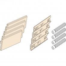 EKU REGAL - C súprava krytiek k dvojitej vodiacej koľajnici, sivý plast