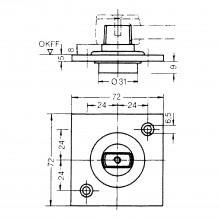 Otočné ložisko DORMA s plochým kónusom, pozinkovaná oceľ