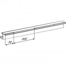 Jednoduchá koľajnica EKU REGAL A 25 H/GR, hliník, dierovaná, D 2500 mm
