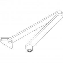Normálne ramienko bez aretácie pre TS 2000/4000/E/EFS, strieborné