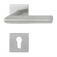 Garnitúra kľučka-kľučka Amsterdam s rozetami PZ, hrúbka dverí 35-45 mm, ušľ.oceľ