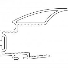 SALU zvislý úchytový profil S04N, 2700 mm, strieborne elox. hliník