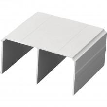 SALU horný vodiaci profil S05, 6000 mm, strieborne eloxovaný hliník