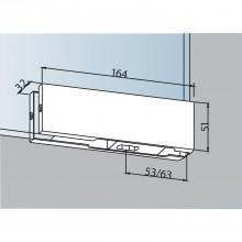Dolné rohové kovanie DORMA PT 10, sklo 10 mm, strieborne eloxované