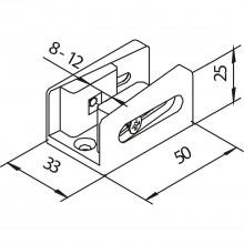 Súprava na rozšírenie pre 1-krídlové sklenené dvere 8 mm vhodná pre Helm 53