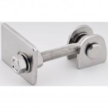 Bránový záves na privarenie nastaviteľný, dĺžka 129 mm, antikoro V2A