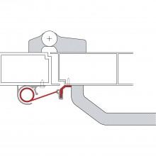 Montážny profil pre panikové kovanie LP1, strieborne eloxovaný hliník