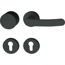 Protipožiarna súprava guľa/kľučka 133 R/122.23 na rozete PZ hlboko čierna