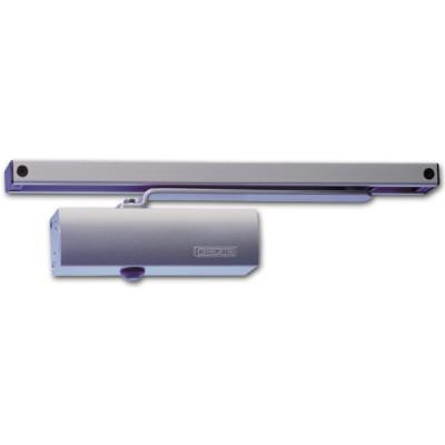 Dverový zatvárač TS 1500 G, na jednokrídlové dvere s klznou lištou, strieborný