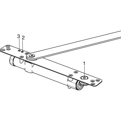 Integrovaný dverový zatvárač ITS 96 3 – 6, šírka krídla – 1400 mm, štandard