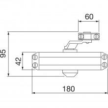 Dverový zatvárač TS 10, EN 2,3,4 s ramienkom