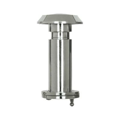 Dverový protipožiarny priezor ø 14mm, šošovka 200°, HD: 35-60mm, lesklý chróm