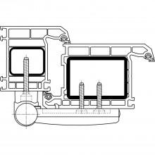 Záves pre vchodové dvere SIKU 3D K 3135,dĺžka čapu závesu 105mm, tmavo hnedý H9