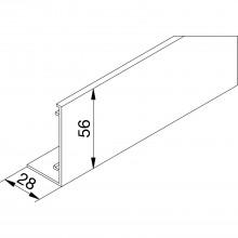 Krytka GT-L, nárez na mieru, strieborne eloxovaný hliník