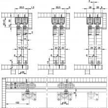 Súprava kovania HAWA-Dorado 40/IF, vnútorné čelo, počet dverí 2