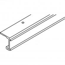 Jednoduchá koľajnica EKU COMBINO 20/35 H, dierovaná, D 2500 mm, hliník