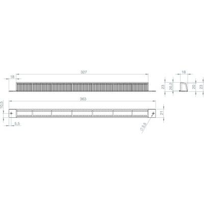 Ochranná poveternostná mriežka FRESH 10 vonkajšia, plast RAL 9010