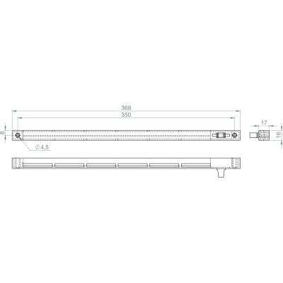 Ovládacia jednotka Fresh 32 vnútorná, 383 x 21, biely plast RAL 9010