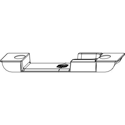 Protikus, falc 4 mm pre valč. čapy, pozinkovaná oceľ vo farbe striebra