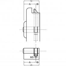 Priemyselná polovičná vložka BKS, 35 mm, matne poniklovaná mosadz