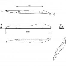 Úchytka Lunga vzd.dier 160 mm, šírka 273 mm, lesklo pochrómovaná