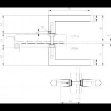 Kľučka 10.328, L tvar, 8 mm, strieborná eloxovaná