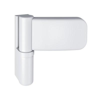 Záves pre vchodové dvere SIKU 3D K 3135, výška závesu 105 mm, biely RAL 9016
