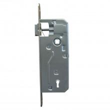 Zadlabací zámok, rozteč 90 mm, WC, orech 9 mm, DM 40 mm, oceľ poniklovaná