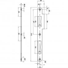 Protiplech pre dvojkrídlové dvere R9, vypuklý, 210 x 18 x 2 mm