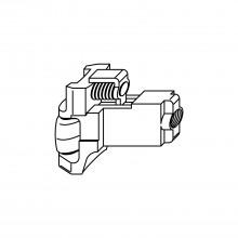 Valčeková strelka pre zámky Z-TS, DM 45 mm